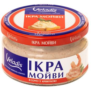 Veladis delicacy capelin roe with shrimps 180g - buy, prices for Auchan - photo 1