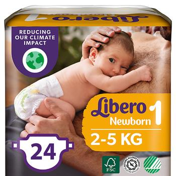 Подгузники детские Libero Newborn 1 2-5кг 24шт