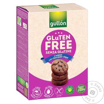 Печенье Gullon Мини галеты с кусочками шоколада без глютена 200г
