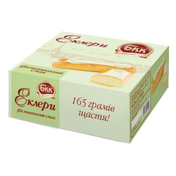Тістечка БКК Еклери Фісташковий смак 165г - купити, ціни на Фуршет - фото 2
