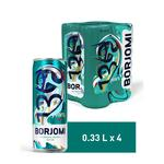 Borjomi Carbonated Mineral Water Can 4pcs 0,33l