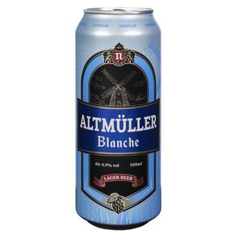 Пиво Altmuller Blanche 4.9% 0,5л - купить, цены на Фуршет - фото 1