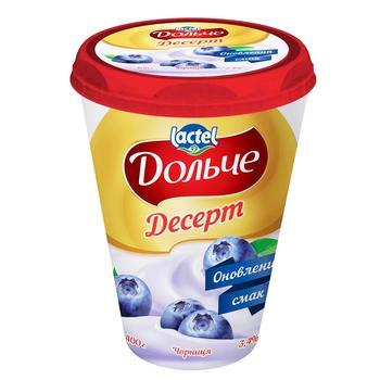 Десерт сирковий Дольче чорниця 3,4% 400г - купити, ціни на CітіМаркет - фото 1