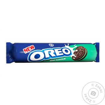 Печенье Oreo с какао и начинкой со вкусом мяты 154г