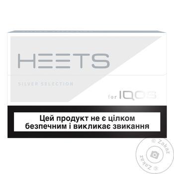 Стики табачные Heets Silver Selection 0,008г*20шт - купить, цены на Фуршет - фото 1