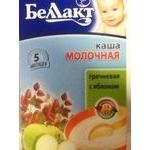 Baby milk porridge Bellakt Buckwheat with apple for 5+ months babies 250g Belarus