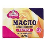 Масло Заречье екстра солодковершкове 82.5% 200г - купить, цены на Ашан - фото 1