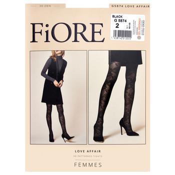Колготки Fiore Love Affair 30 ден жіночі чорні р.2