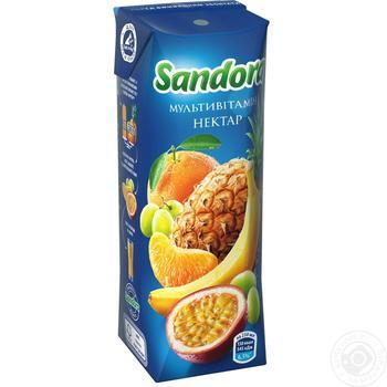 Нектар Sandora мультивитаминный 250мл - купить, цены на Фуршет - фото 1