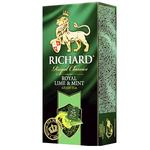 Чай зелений Richard Royal Lime&Mint в пакетиках 25шт*2г