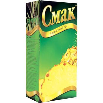 Сок Смак ананасовый восстановленный тетрапакет 1000мл Украина