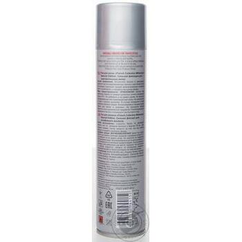 Лак Millenium Edition для укладки волос сильная фиксация с натуральным экстрактом жожоба 250мл - купить, цены на Ашан - фото 2