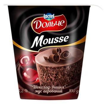Мус Дольче шоколад-вишня аерований 3,2% 100г - купить, цены на Ашан - фото 1