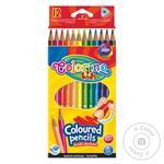 Олівці COLORINO кольорові трикутні 8,9см12 кольорів  Арт.51798PT
