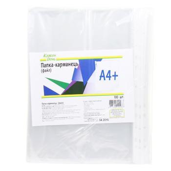 Файлы Ашан канцелярськие А4 100шт - купить, цены на Ашан - фото 1