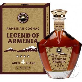 Коньяк Legend of Armenia 4 роки витримки 40% 0.5л - купити, ціни на Ашан - фото 1
