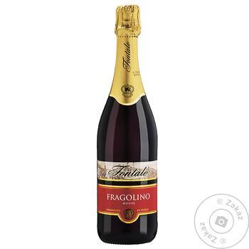 Напиток винный Fontale Фраголино красное сладкое 0.75л