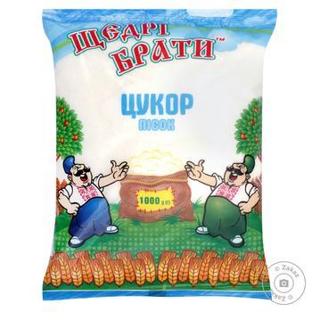 Сахар Щедрі Брати 1кг - купить, цены на МегаМаркет - фото 1