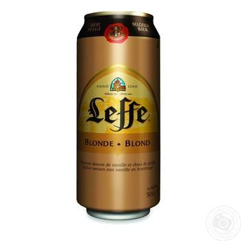 Пиво Leffe Blonde светлое 6,6% 0,5л