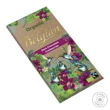 Шоколад черный Belgian organic с клюквой 90г - купить, цены на Novus - фото 1