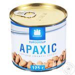 Арахис Eurogroup жаренный солёный 125г
