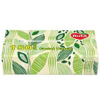 Салфетки Рута Косметические сменный блок 150л - купить, цены на Метро - фото 2