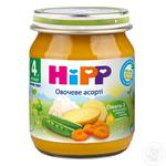 HIPP ORGANIC ПЮРЕ ОВОЧ АСОРТІ 125Г