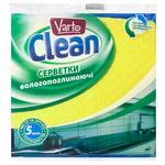 Салфетки Varto Clean целлюлозно 5шт