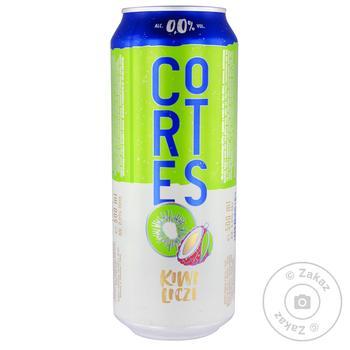 Пиво безалкогольное Cortes Kiwi Liczi 0% 0,5л
