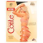 Conte Active 40 den Women's Nero Tights Size 3