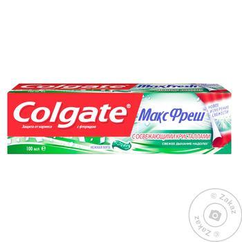 Зубная паста Colgate Макс Фреш Нежная Мята 100мл - купить, цены на МегаМаркет - фото 3
