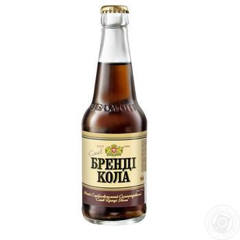 Напій Оболонь Бренді Кола слабоалкогольний сильногазований 0,33л скло - купити, ціни на Novus - фото 1