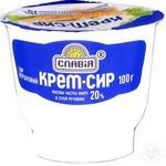 Сир вершковий 20% Крем сир Славія 100г