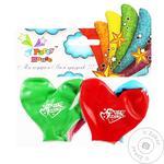 Кульки повітряні Party House серце з малюнком 4шт