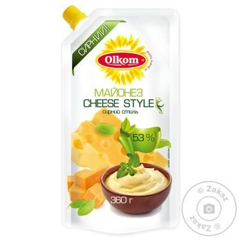 Mayonnaise Olkom Cheese 53% 360g - buy, prices for Novus - image 1