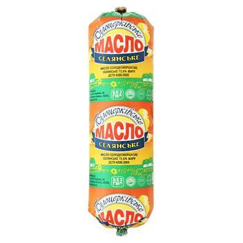 Масло солодковершкове Білоцерківське Селянське 72,6% туба 400г - купить, цены на Ашан - фото 1