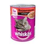 Корм для котів Whiskas з яловичиною в соусі 400г