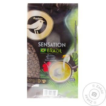 Кофе Ашан традиционный в зернах Бразилия 500г - купить, цены на Ашан - фото 1