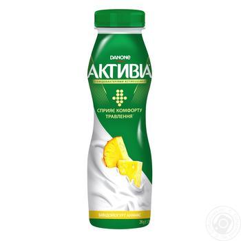 Danone Activia Drinking Bifidoyohurt With Pineapple - buy, prices for Auchan - photo 2