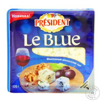 Сыр Президент Ле Блю мягкий с плесенью 50% 100г - купить, цены на Novus - фото 1
