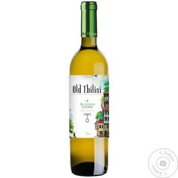 Вино Старый Тбилиси Алаверди белое полусухое 12% 0,75л - купить, цены на Novus - фото 1