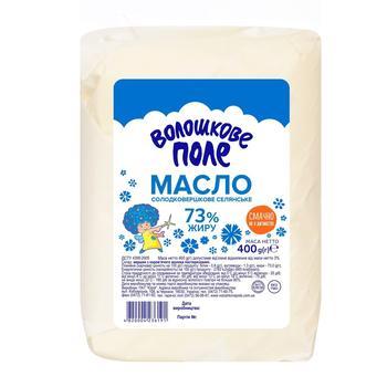 Масло Волошкове Поле Селянське сладкосливочное 73% 400г - купить, цены на СитиМаркет - фото 1
