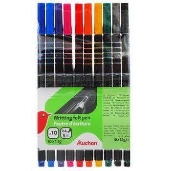 Auchan writing felt pen 10pcs - buy, prices for Auchan - photo 1