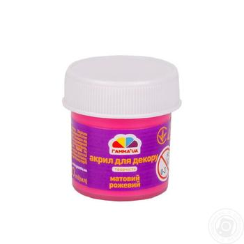 Acrylic paint for a decor opaque pink 20ml - buy, prices for Auchan - photo 1