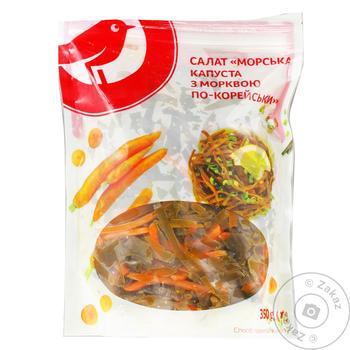 Морская капуста Ашан с морковью 350г - купить, цены на Ашан - фото 1