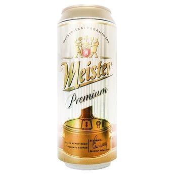 Meister Premium Light Filtered Beer 5% 0.5l