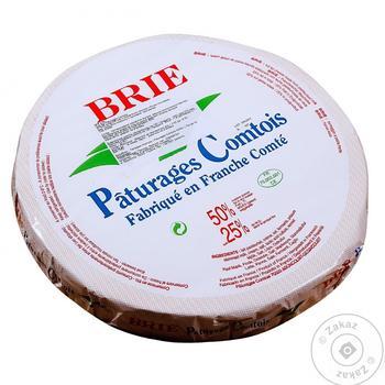 Сыр Патуреджес Комтойс Бри де Франс мягкий с белой плесенью 60% - купить, цены на Фуршет - фото 1
