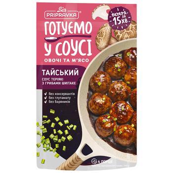 Соус Pripravka Тайский Терияки с грибами шиитаке 140г - купить, цены на Ашан - фото 1