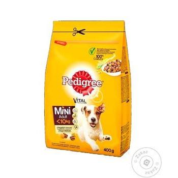 Корм сухий Pedigree для малих собак птиця овочі 400г - купити, ціни на CітіМаркет - фото 1