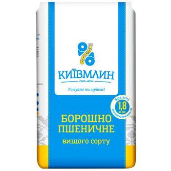 Мука пшеничная Киев Млин высшего сорта 1,8кг - купить, цены на МегаМаркет - фото 1